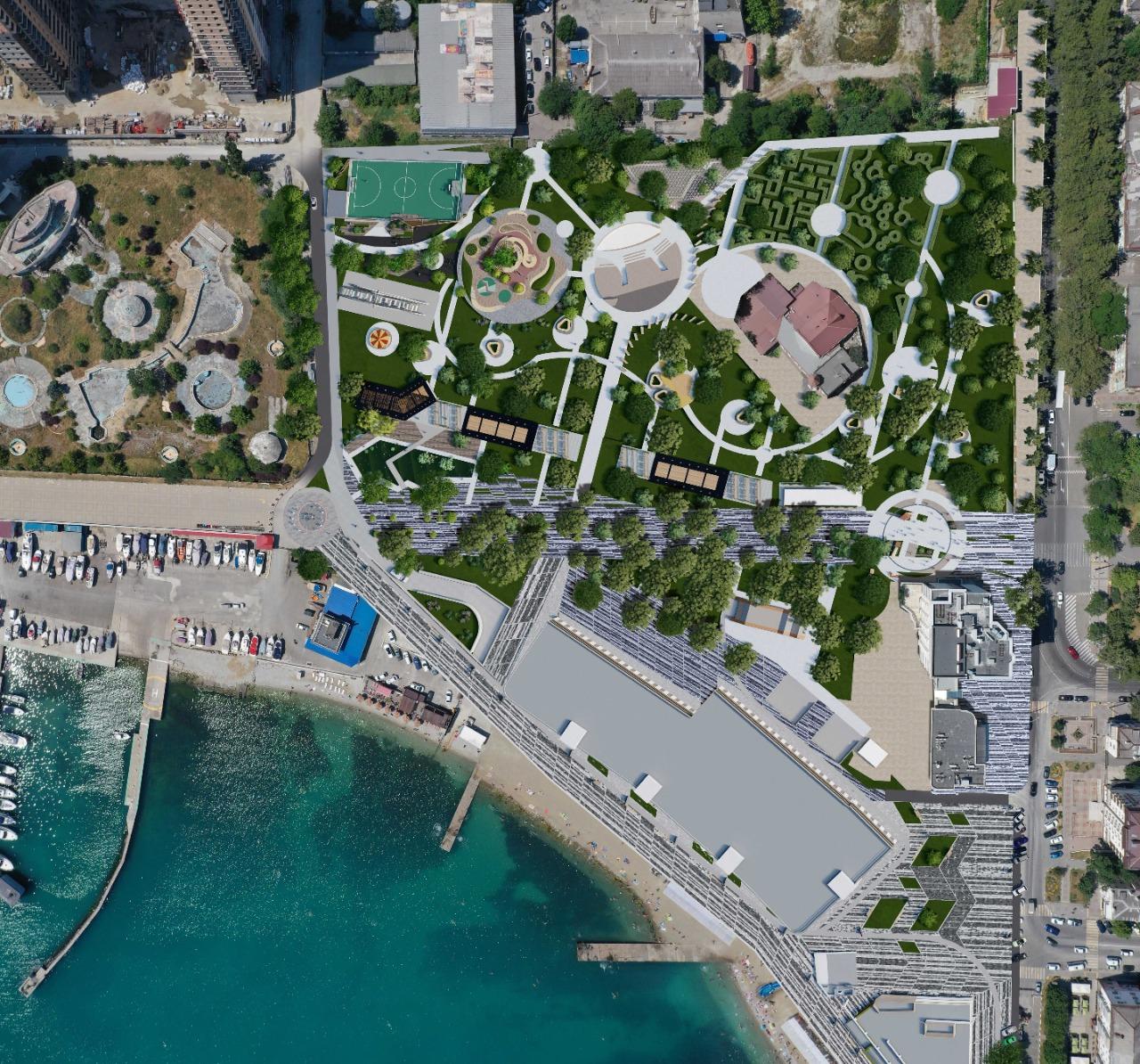В Новороссийске на первый этап реконструкции Парка Фрунзе уйдет 76 млн рублей