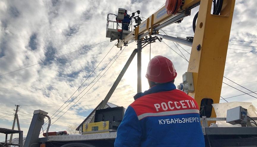 Под Новороссийском в станице Натухаевской построена новая линия электропередачи