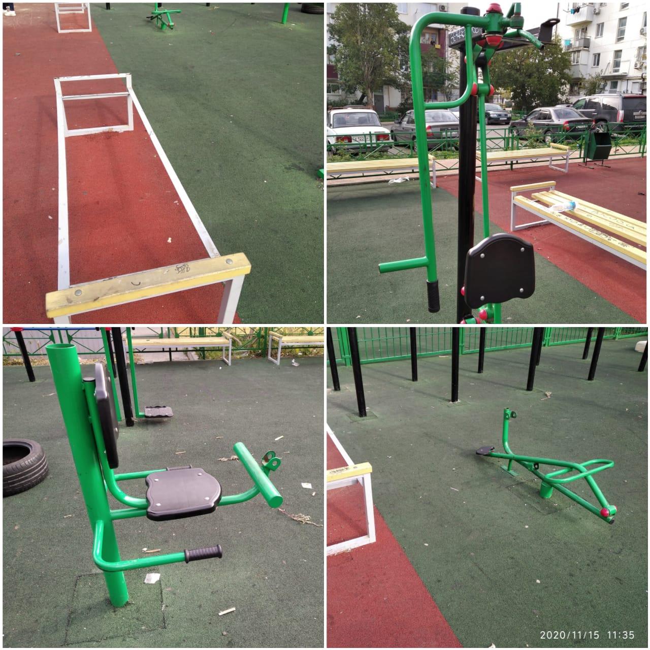 В Новороссийске вандалы стали уродовать новые площадки