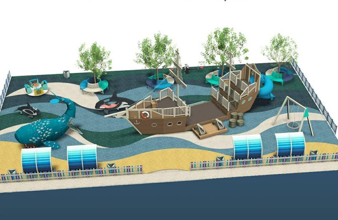 В Новороссийске появится современный детский игровой комплекс в морском стиле