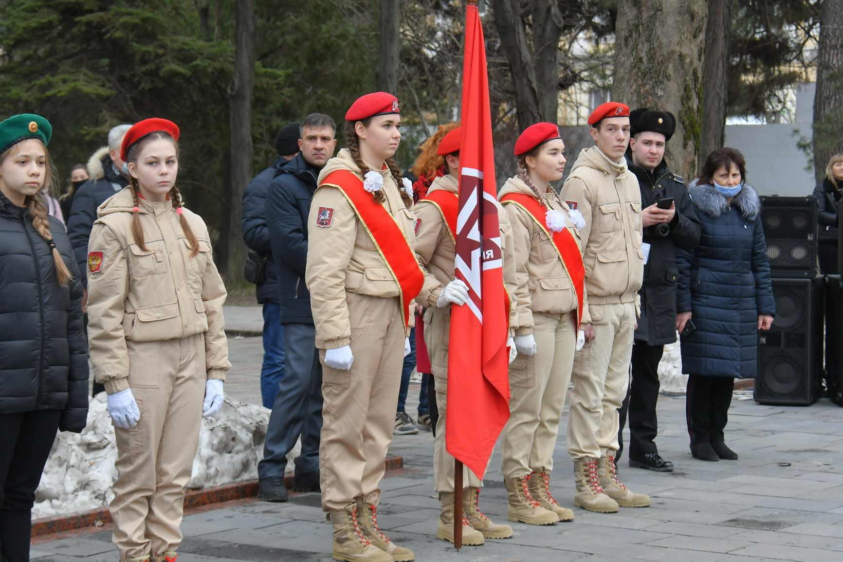 Торжественная церемония принятия присяги юнармейцев на Площади Героев