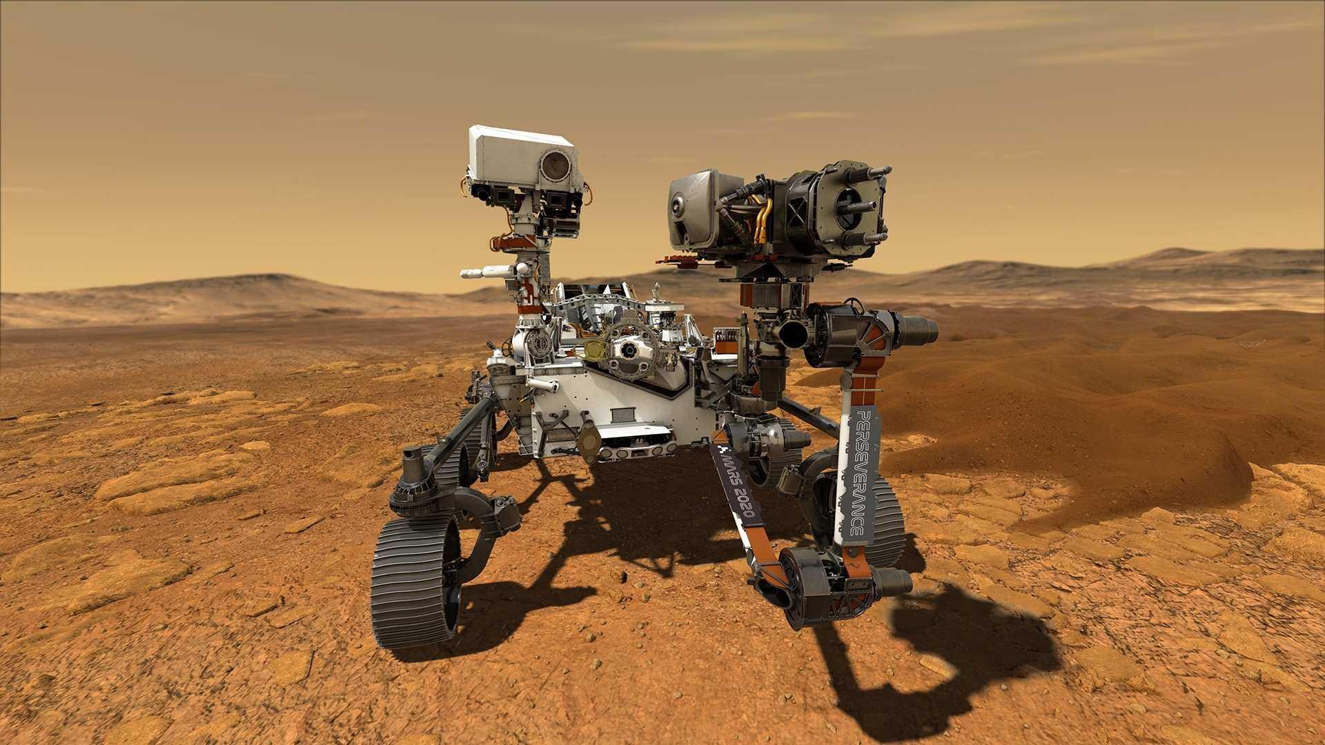 На  Марсе приземлился марсоход «Настойчивость»
