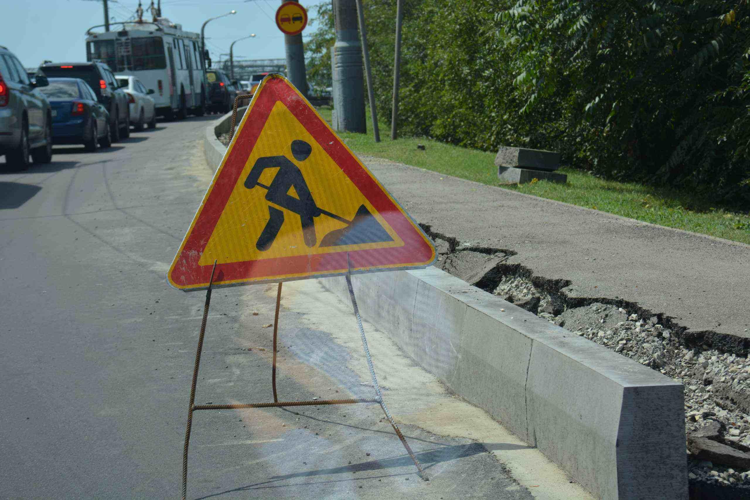 Ремонтные работы на улице Энгельса в Новороссийске продлятся неделю