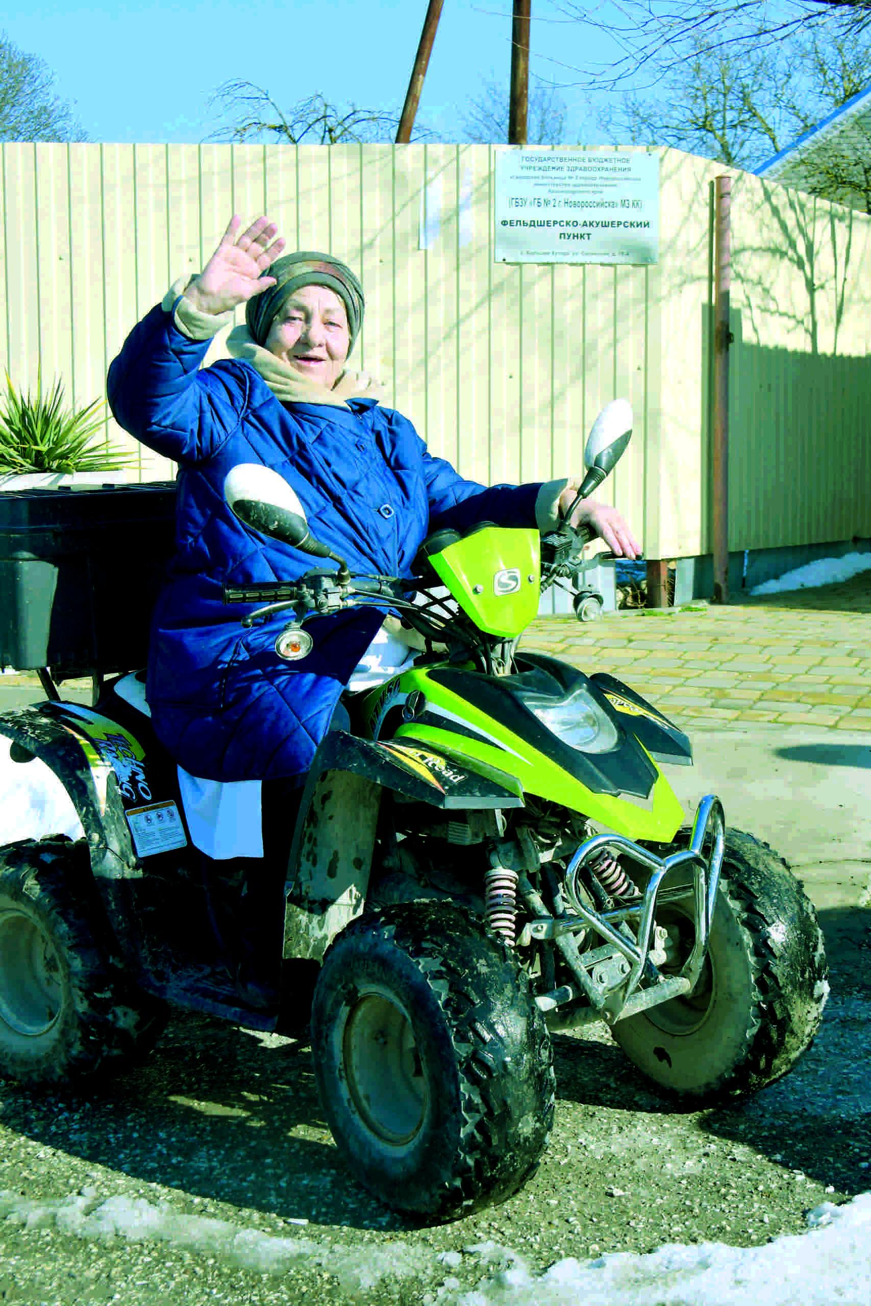 Фельдшер из Абрау-Дюрсо добирается до пациентов на квадроцикле