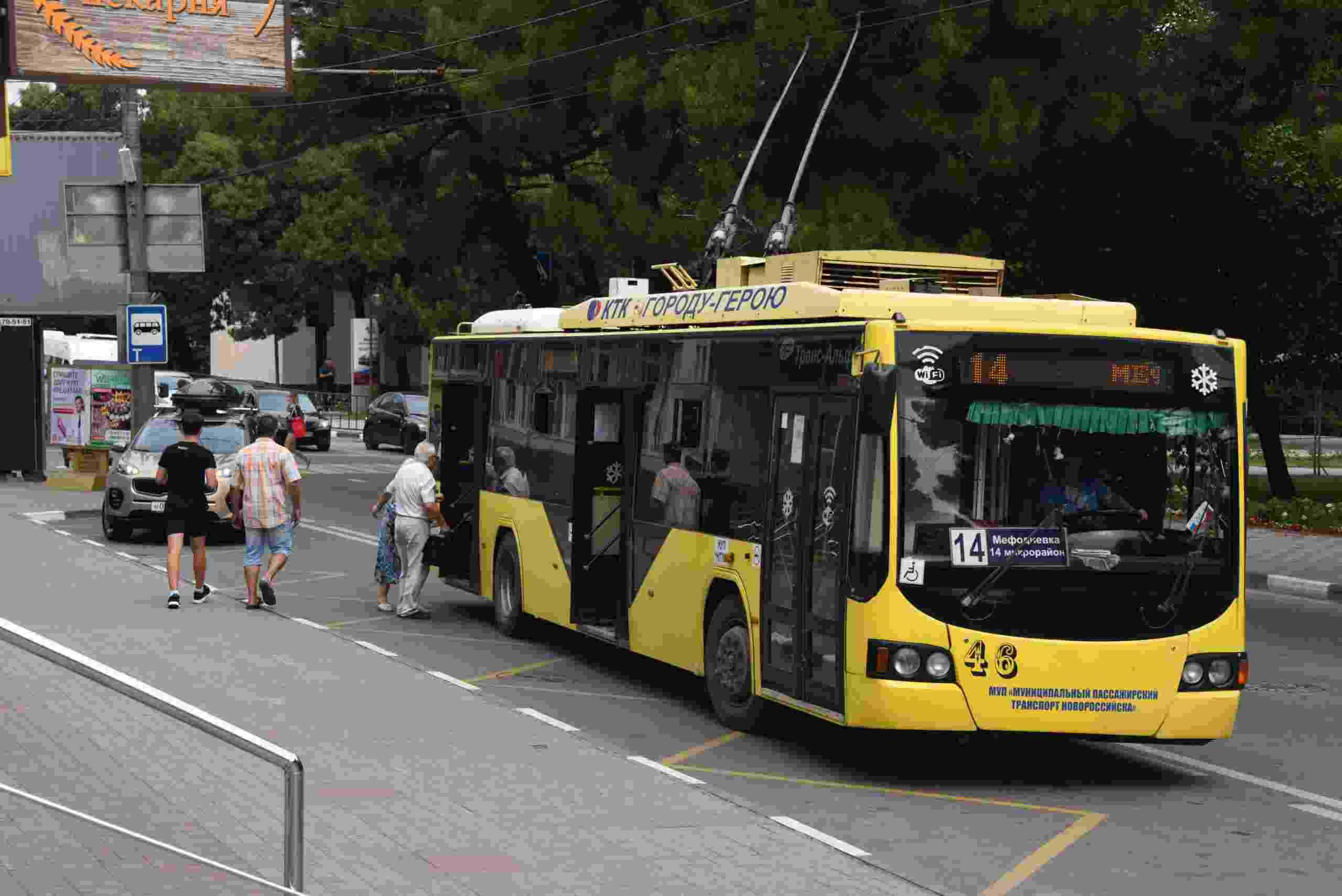 По Новороссийску станет ездить больше троллейбусов