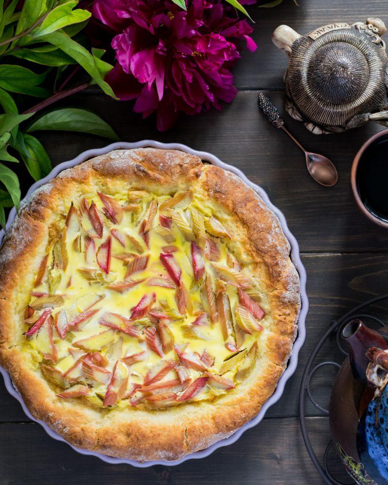 Ирландский пирог с ревенем: простой рецепт полезной выпечки