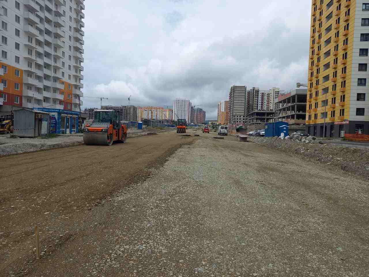 В Новороссийске строится новая дорога