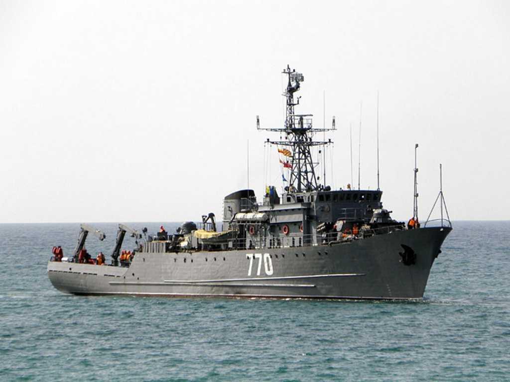 Тральщик «Валентин Пикуль» отработал противоминные действия в Керченском проливе