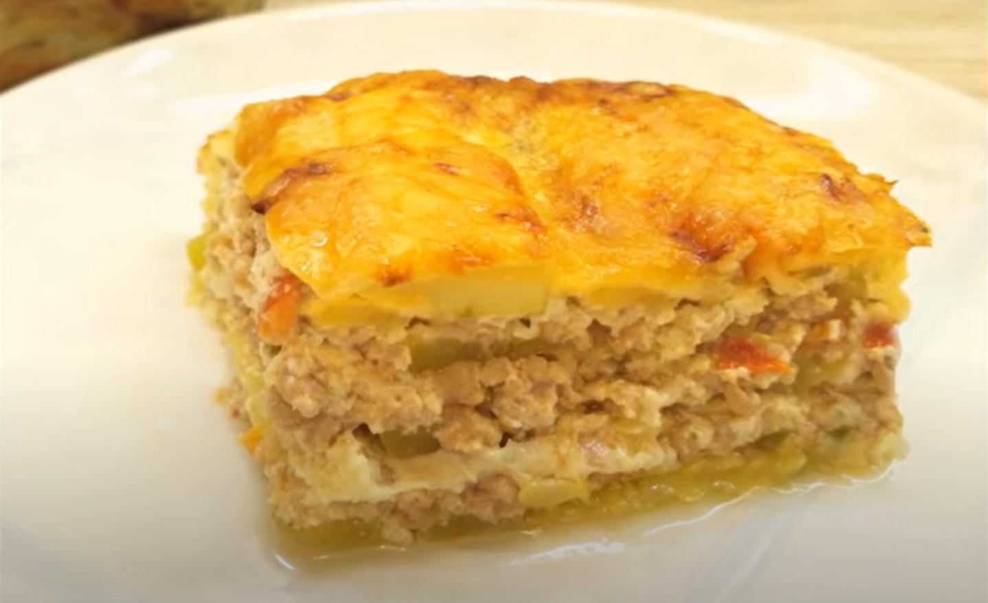 Запеканка из кабачков с мясом в духовке – такая сочная, ароматная и очень вкусная!