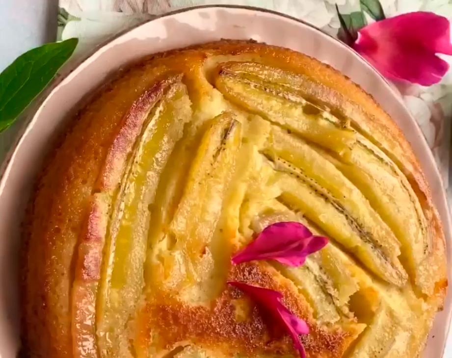 Карамельно-банановый пирог — легкий и вкусный десерт для всей семьи