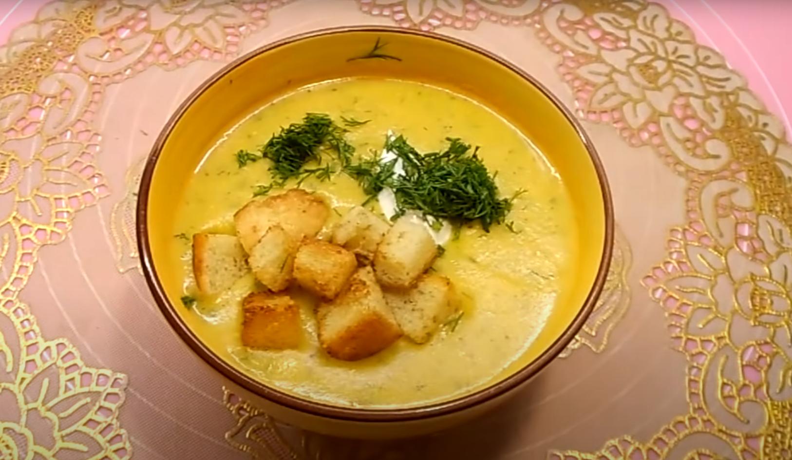Легкий, сытный и очень вкусный — суп-пюре из кабачков
