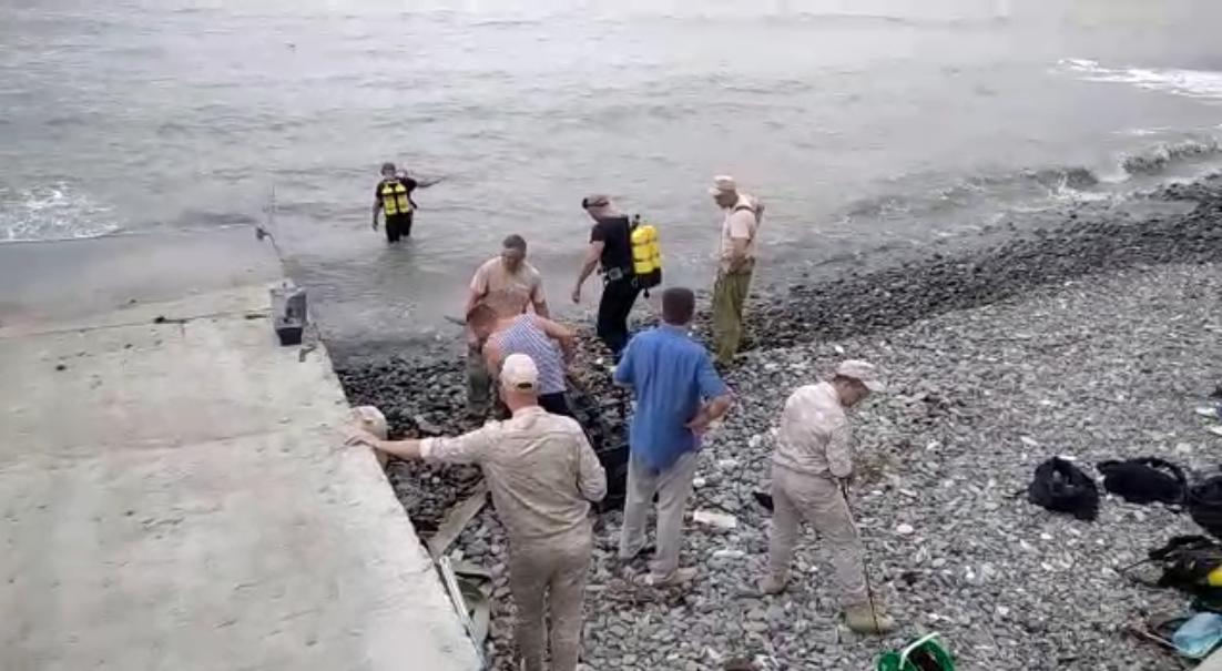 В Новороссийске на берегу моря взорвали немецкую торпеду (видео)