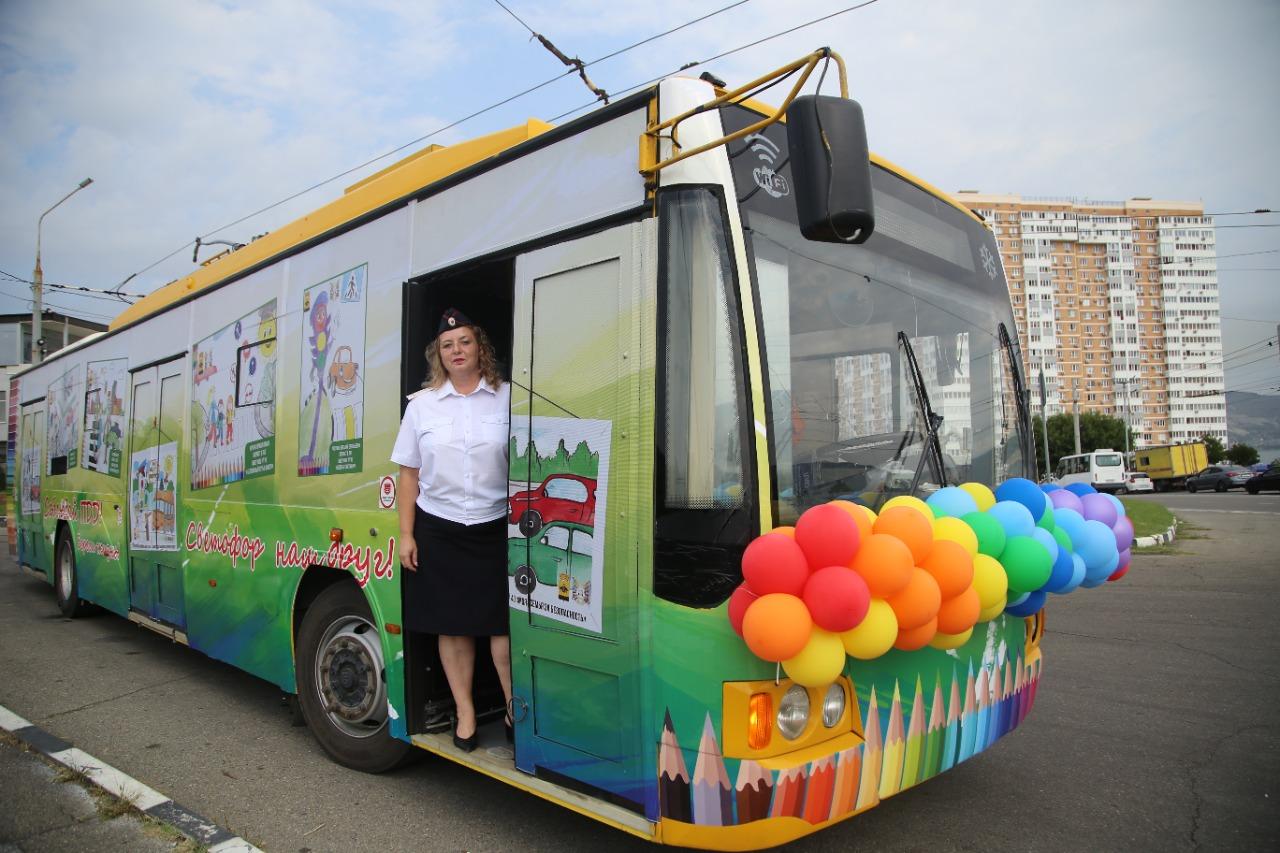 Сегодня на улицы Новороссийска выехал «Безопасный троллейбус»